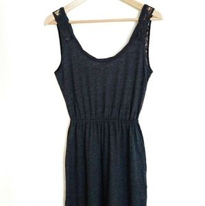 Abercrombie & Fitch Dark Blue Maxi Dress w/ Lace